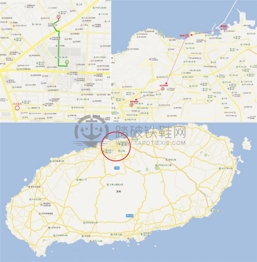 (最后附上济州岛岸上游路线地图)